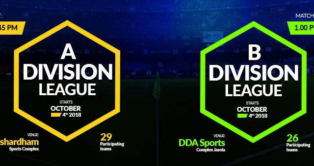 The A and B division Leagues of Football Delhi (DSA) begin