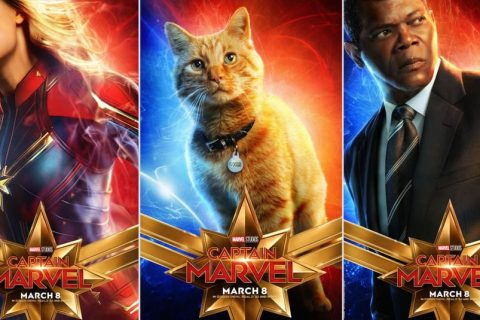 The best character on the crew stage,The cat from the new Captain Marvel posters
