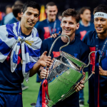 Players SPEAK at Victory Parade and Celebrations. FC Barcelona becomes the first team to win a Second Treble.