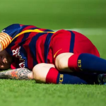 Messi Knee Injury Las Palmas