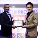Football Ratna – Sunil Chhetri interacts with fans at Jawaharlal Nehru Stadium