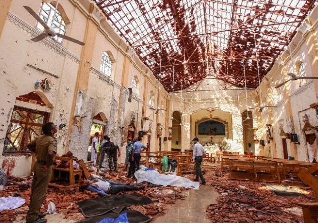 MULTIPLE BLASTS HIT SRI-LANKA: 5 INDIANS AMONG 290 SRI-LANKAN DEAD