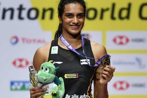 PV Sindhu becomes the first Indian to win the BWF World Championships