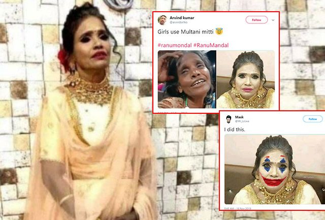 Ranu Mandal  is trending with her new makeup look..